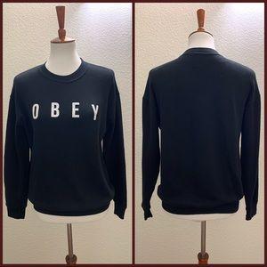 Obey Black Sweater Size Medium